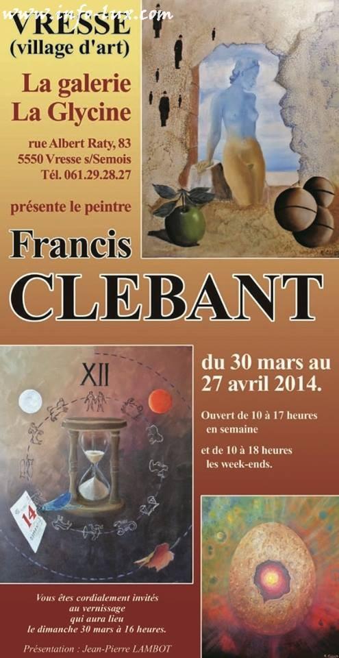 Reportage photos du vernissage de Monsieur Francis Clébant à Vresse. – Vresse