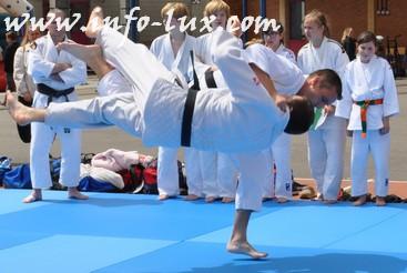 Démonstration du Judo Club d'Habay à saint Benoit