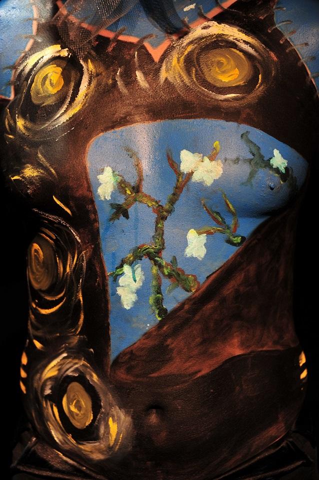 Rollin Mélanie une Arlonaise : body painting