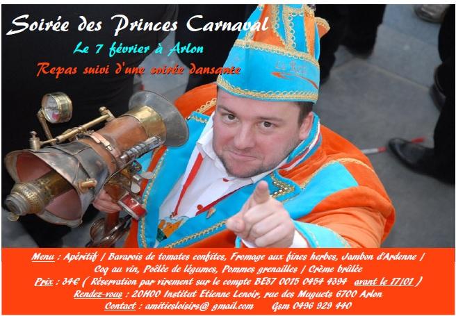 Soirée des Princes Carnaval à Arlon