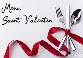 Restaurant  le samedi 14 février 2015 pour la Saint Valentin!