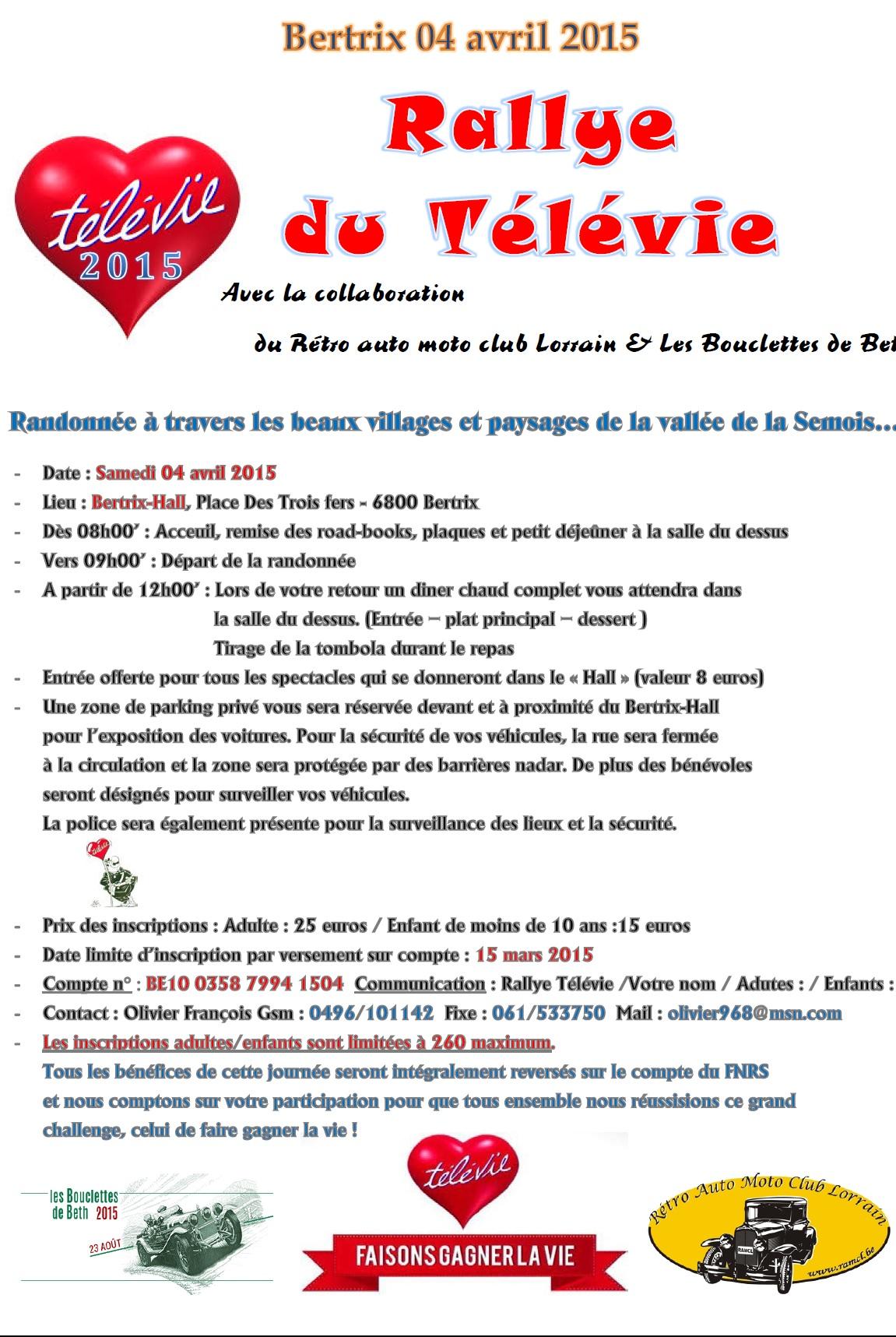 Rallye Télévie à Bertrix