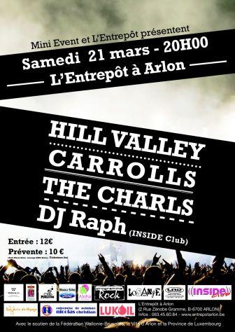 HILL VALLEY en concert à l'entrepôt à Arlon