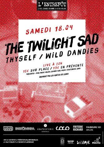 THE TWILIGHT SAD en concert à l'entrepôt à Arlon