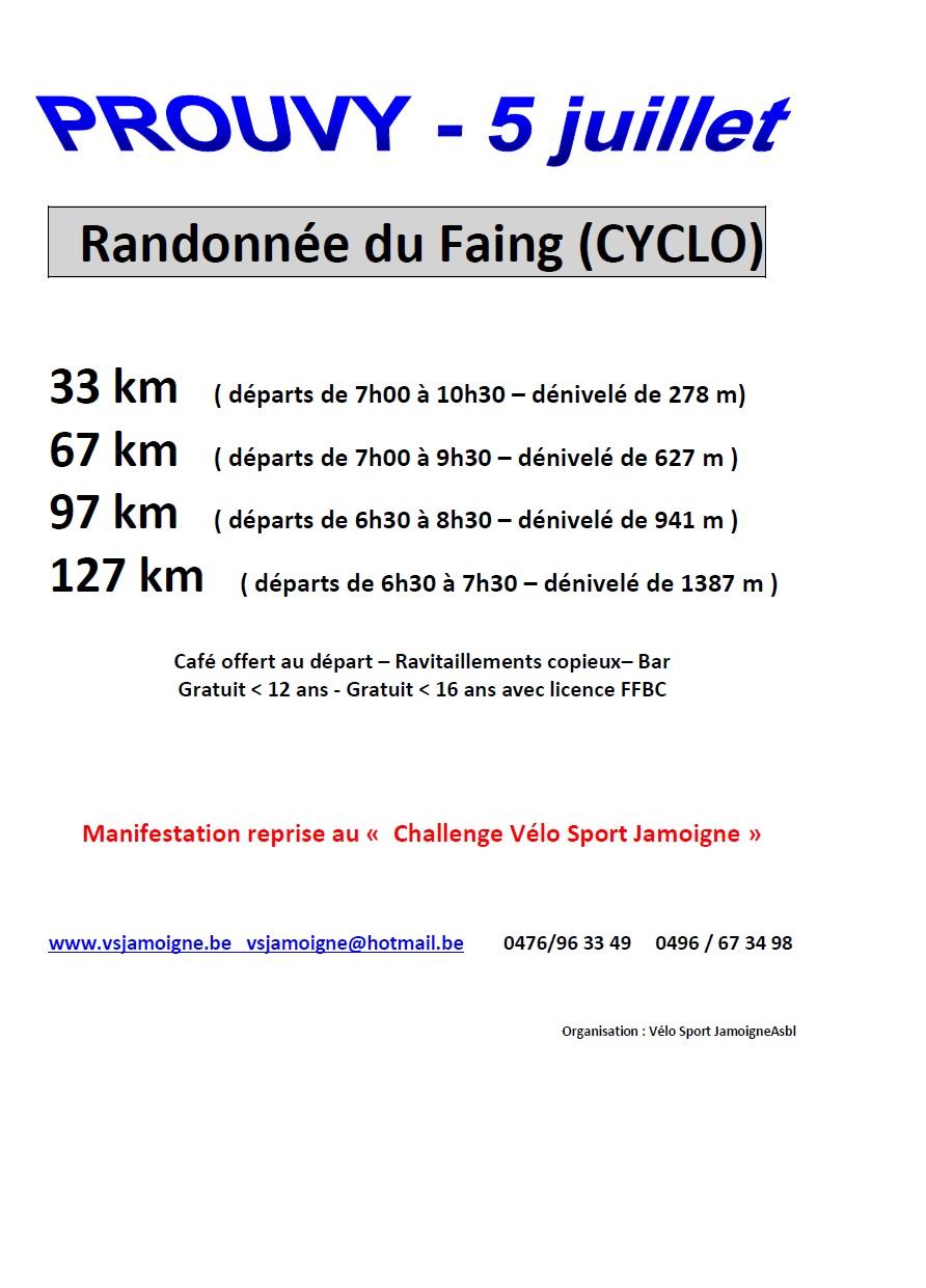 Randonnées Cyclo à Prouvy