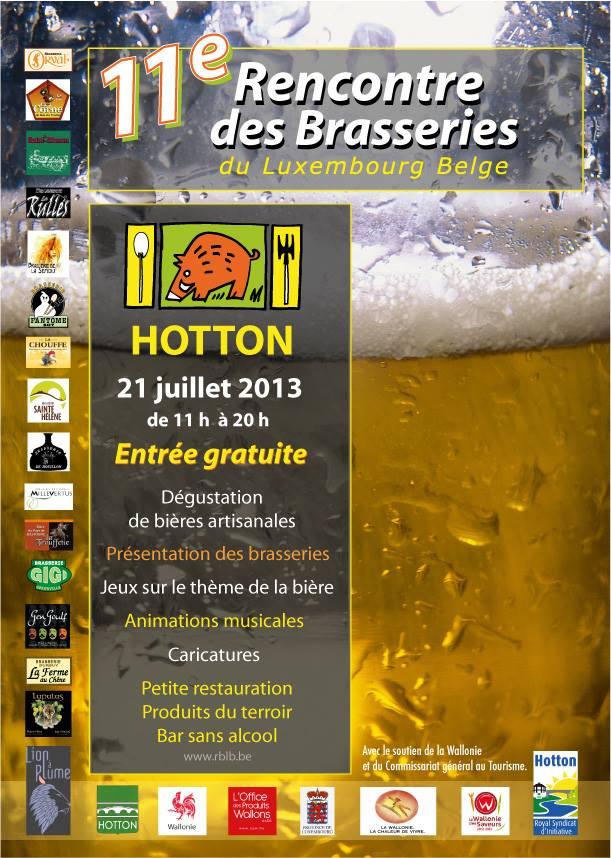 13è RENCONTRE DES BRASSERIES DU LUXEMBOURG BELGE à Hotton 2015
