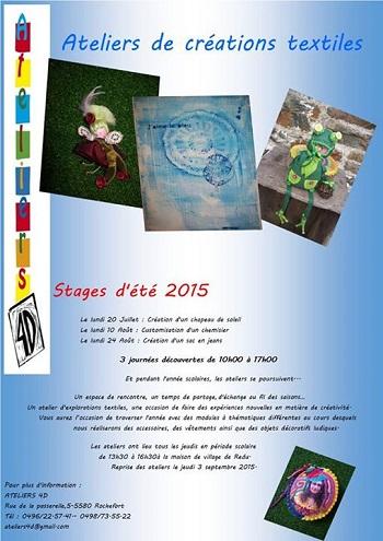 Redu : stage récup'textile 2015