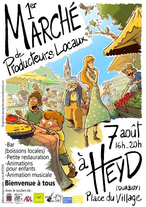 Heyd : marché de produits locaux ce 7/08