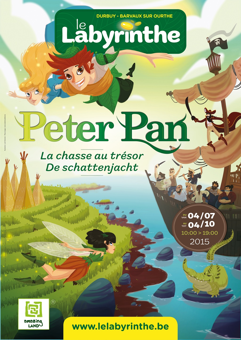 Barvaux :le labyrinthe accueille Peter Pan – Gagner  vos entrées  !