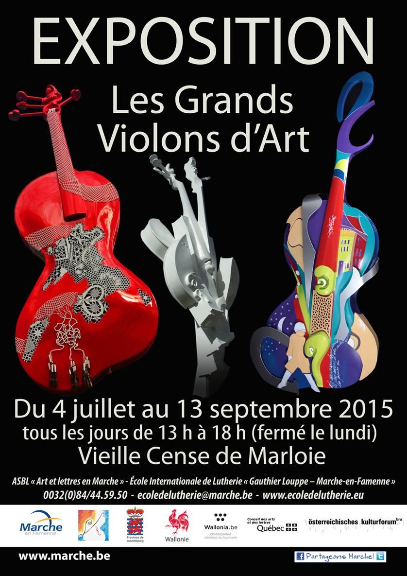 Marche-en-Famenne : l'expo Grands Violons