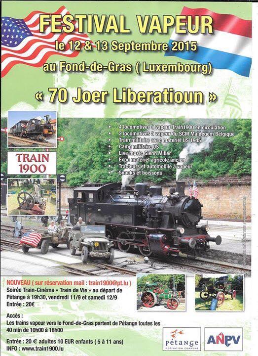 Luxembourg / Fond-de-Gras : trains à vapeur