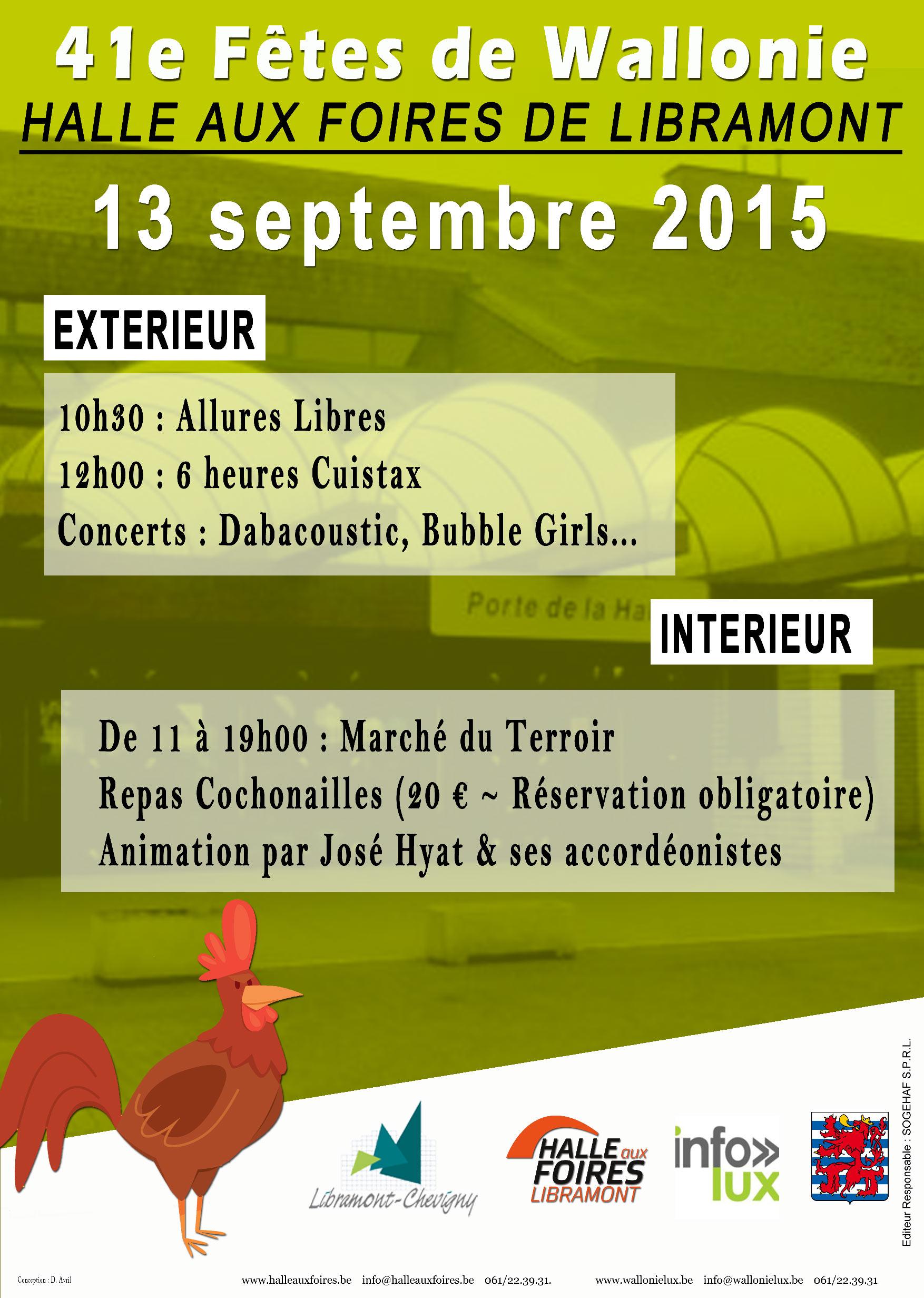 Fêtes de Wallonie – Libramont  Halle aux foires -Dimanche 13 septembre septembre 2015