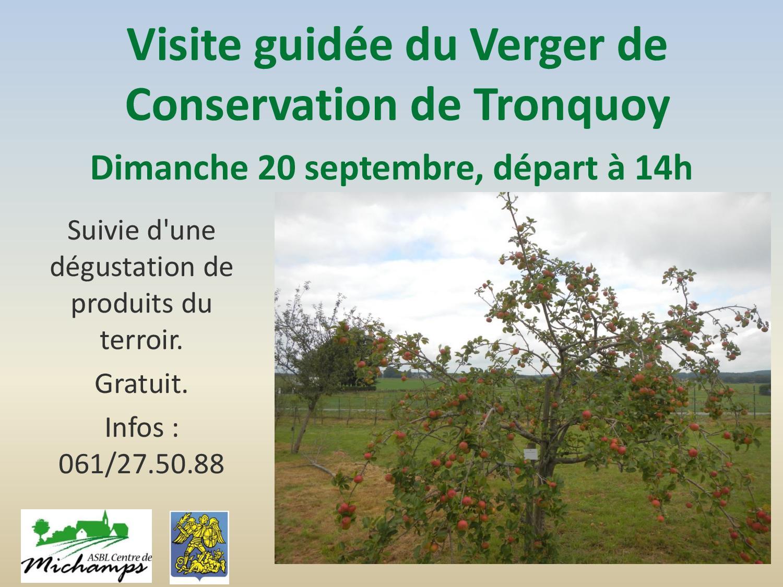 Visite du verger de Conservation de Tronquoy