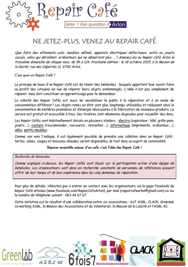 Repair Café à Arlon