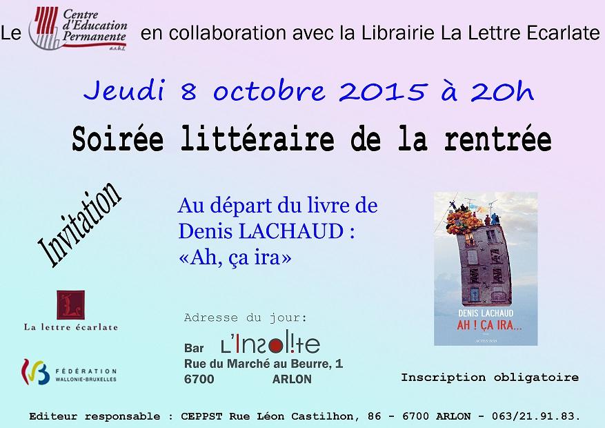 Soirée littéraire à Arlon