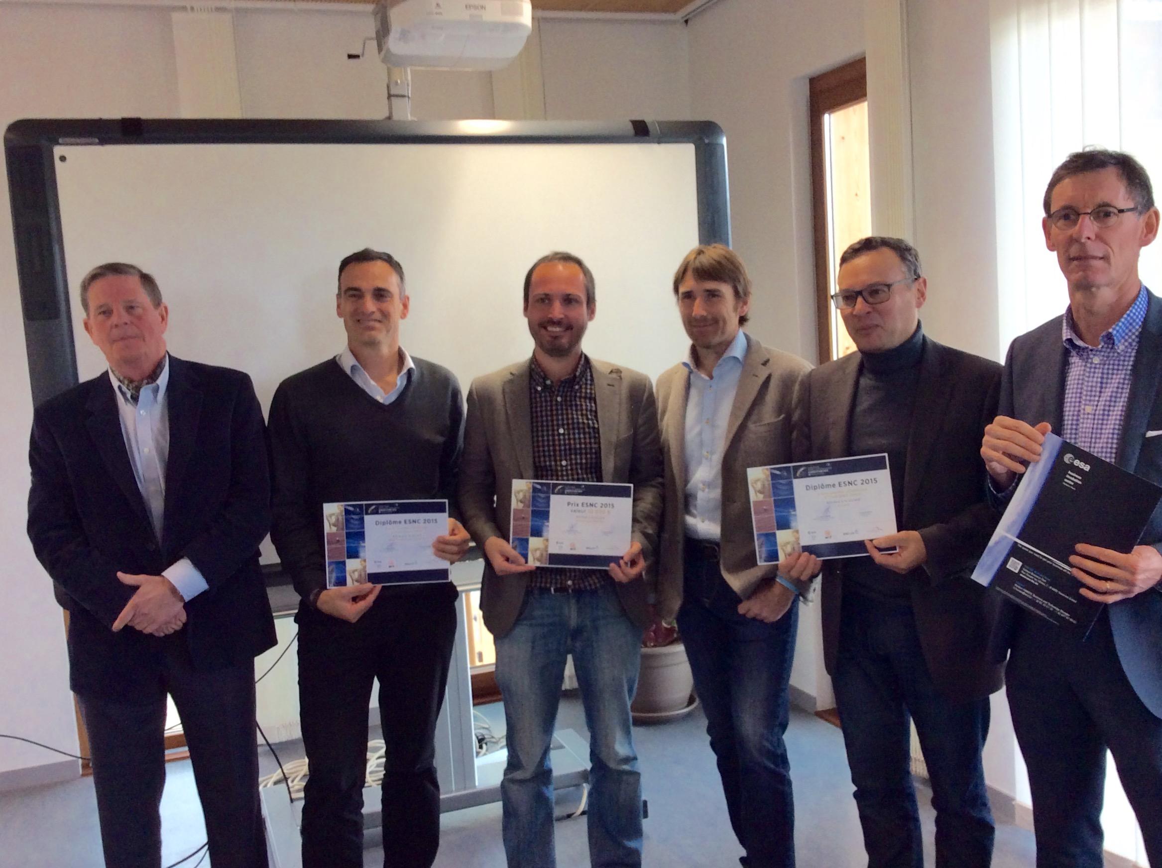 Remise du prix European Satellite Navigation Competition (ESNC)