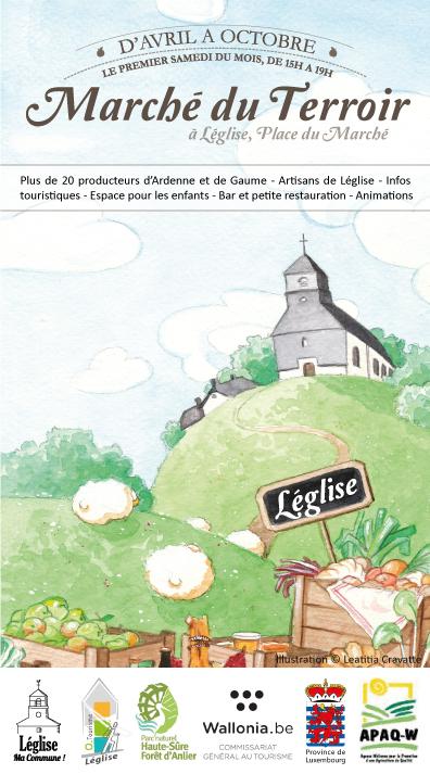 Marché du terroir à Léglise