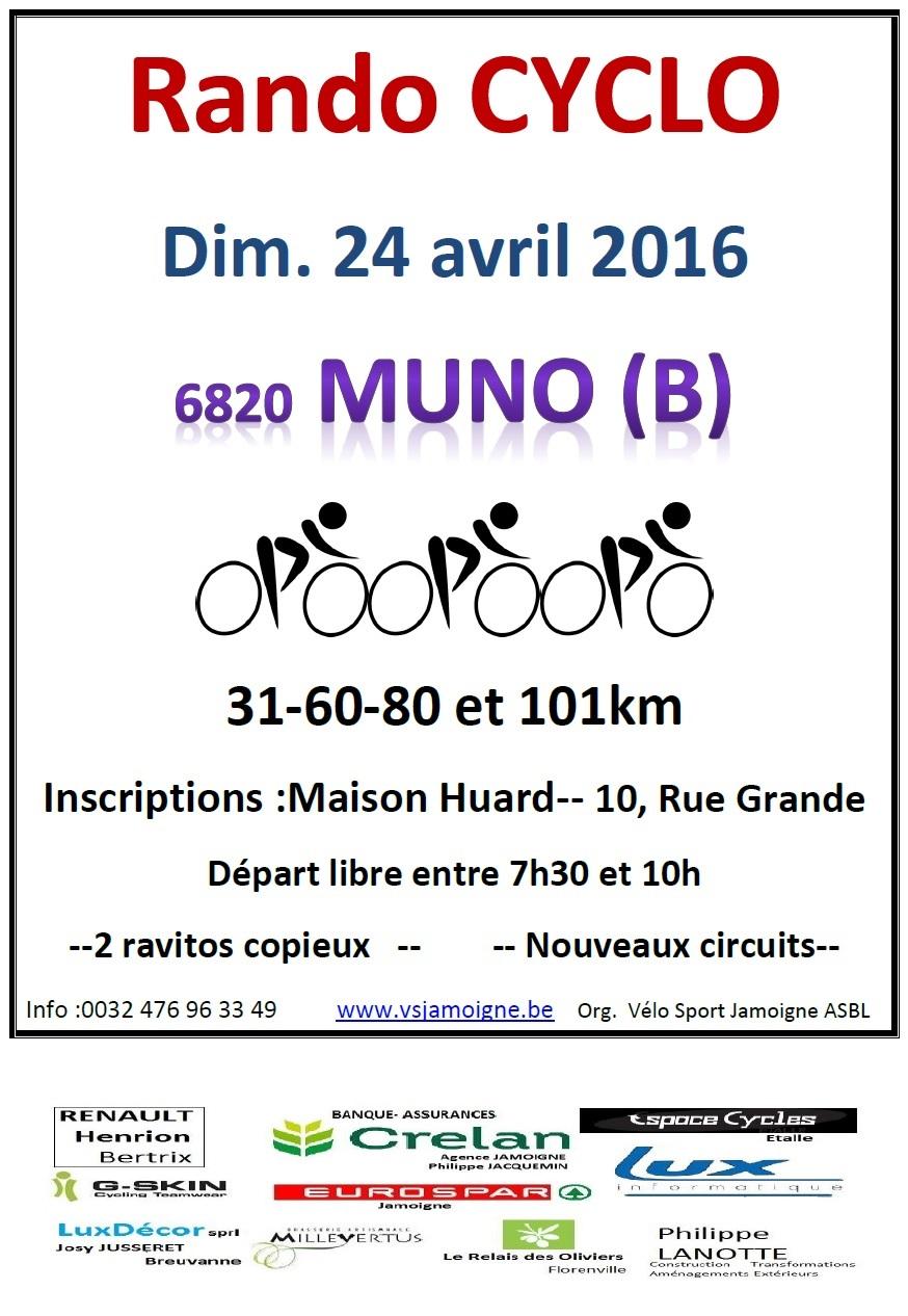 Randonnées Cyclo à Muno