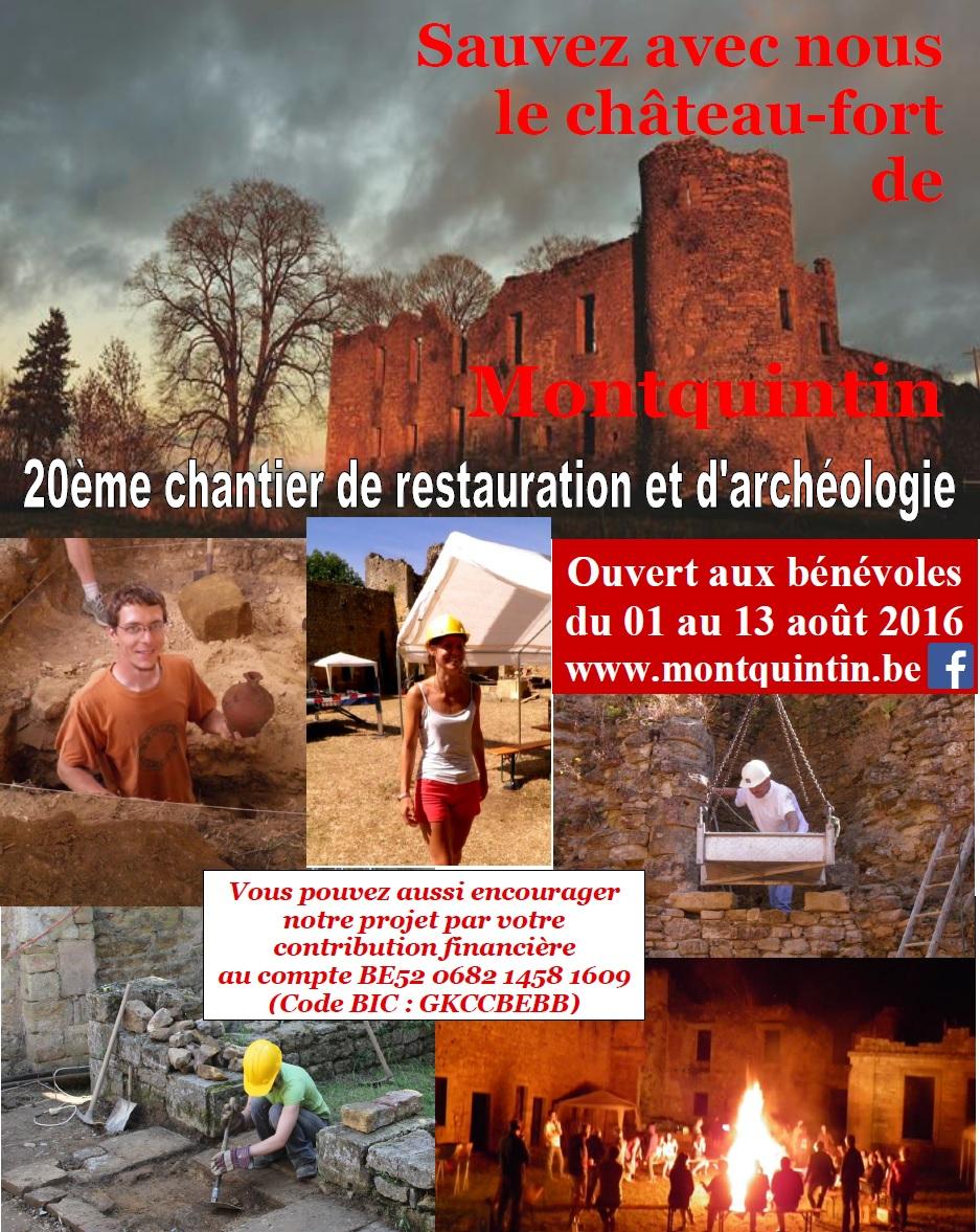 Restauration du Château à MONTQUINTIN