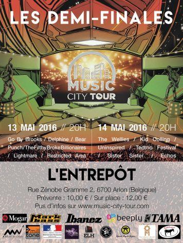 DEMI-FINALE(2) du TREMPLIN MUSIC CITY TOUR  à Arlon