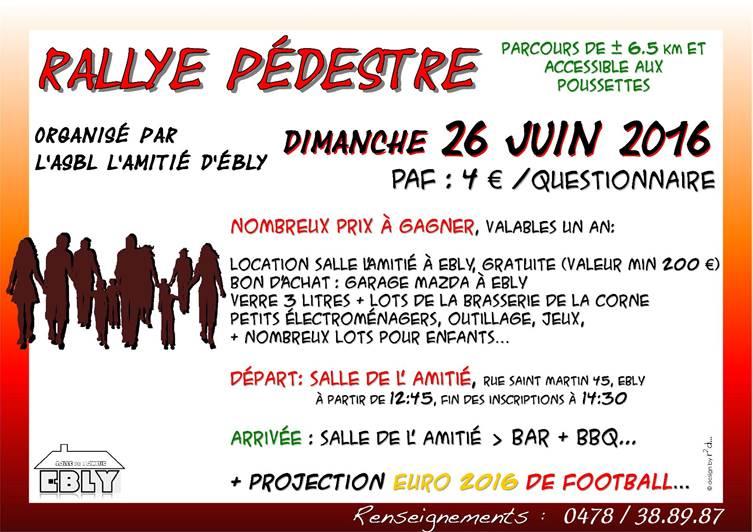 Rallye pédestre à Ebly