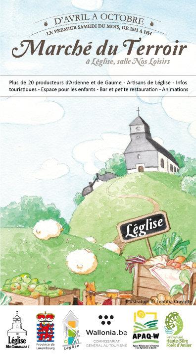 Léglise : marché du terroir 6/08
