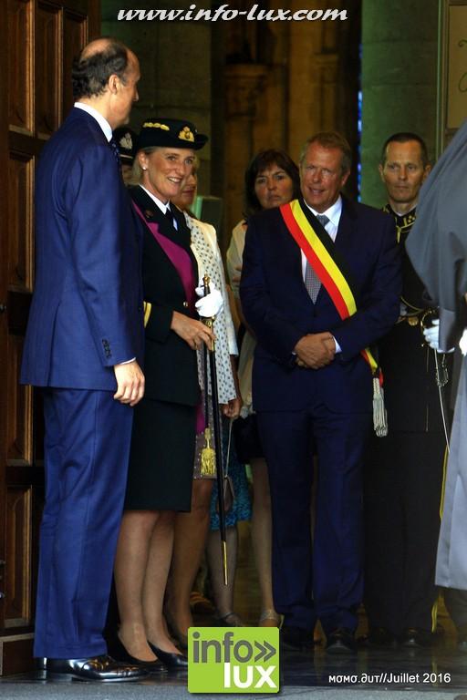 Te Deum à Arlon en présence de la Princesse Astrid de Belgique et du Prince Lorenz .