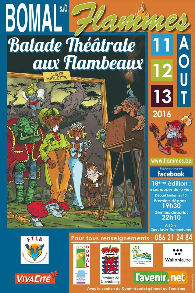 Bomal sur Ourthe : balade aux flambeaux 11-12-13/08