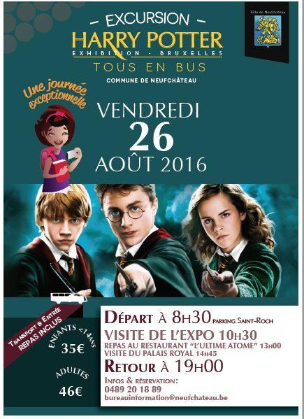 Neufchateau : car organisé pour  l'expo Harry Potter 26/08