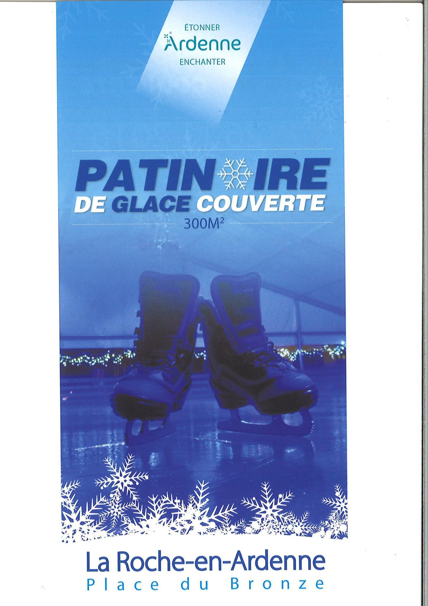La Roche en Ardenne : patinoire pour l'hiver