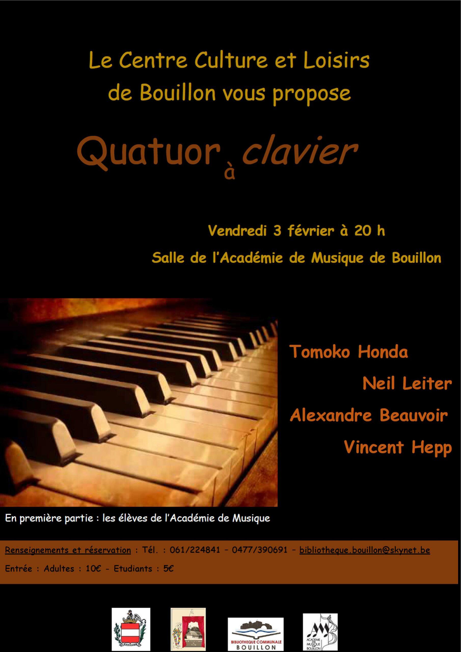 Quatuor à clavier en concert à Bouillon