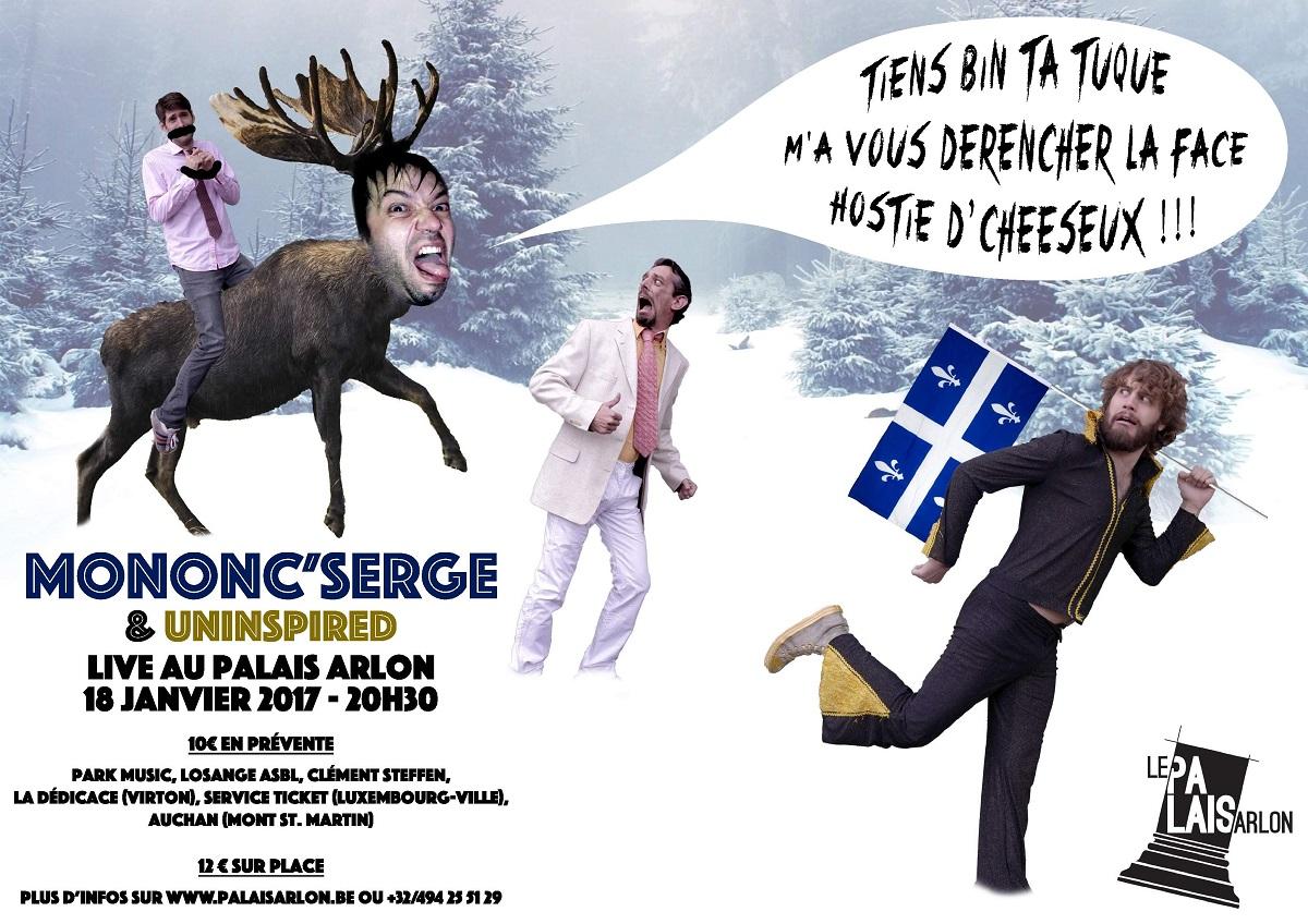 Mononc'Serge et Uninspired en concert à Arlon