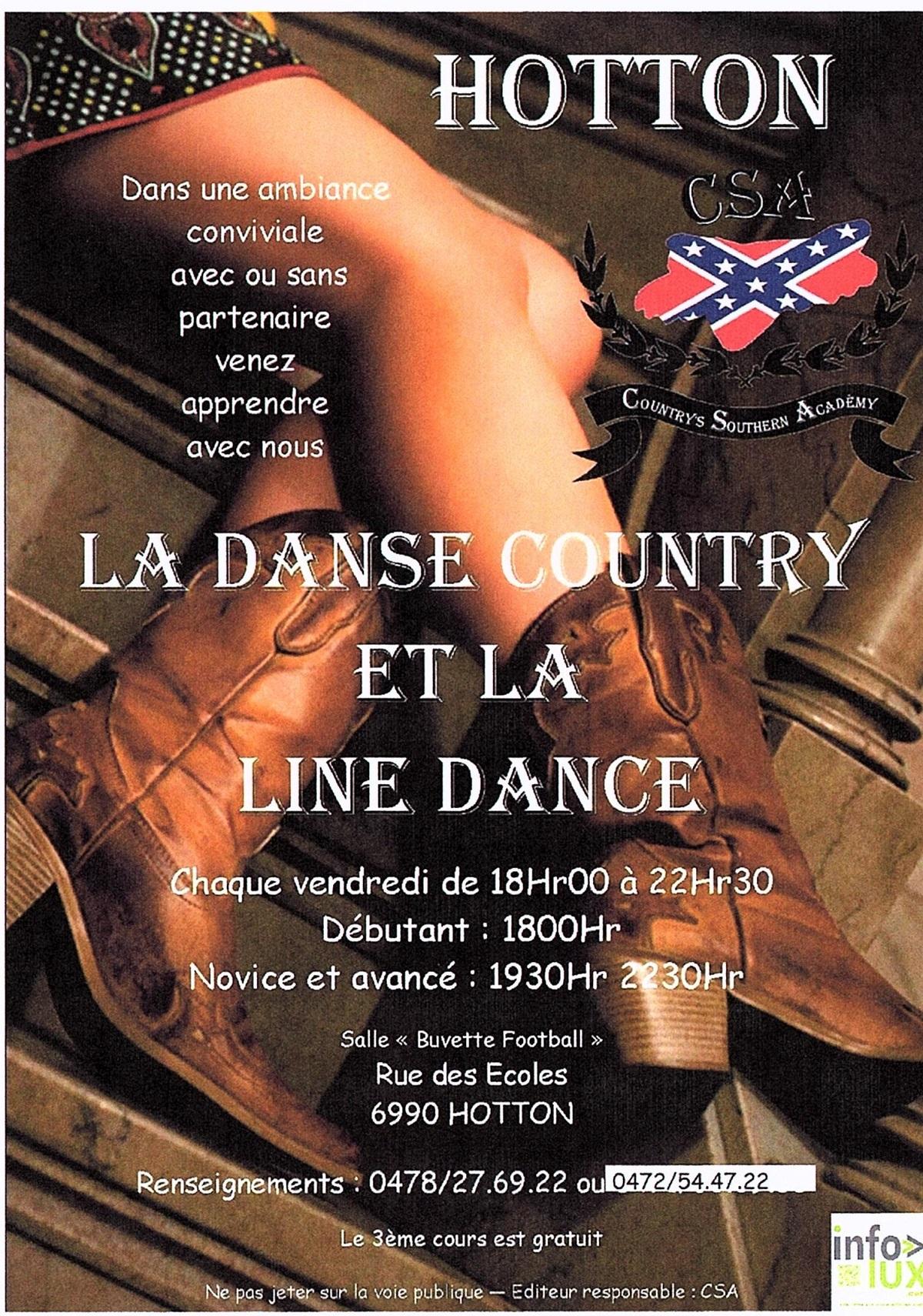 Country et Line Dance à Hotton