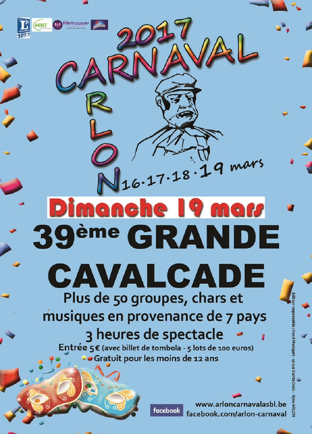Le programme du  Carnaval d'Arlon