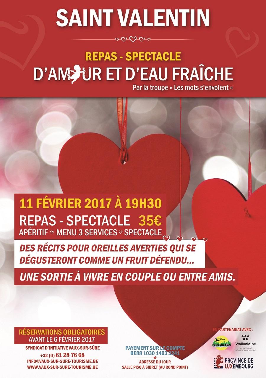 Spectacle de Saint Valentin à Vaux-sur-Sûre
