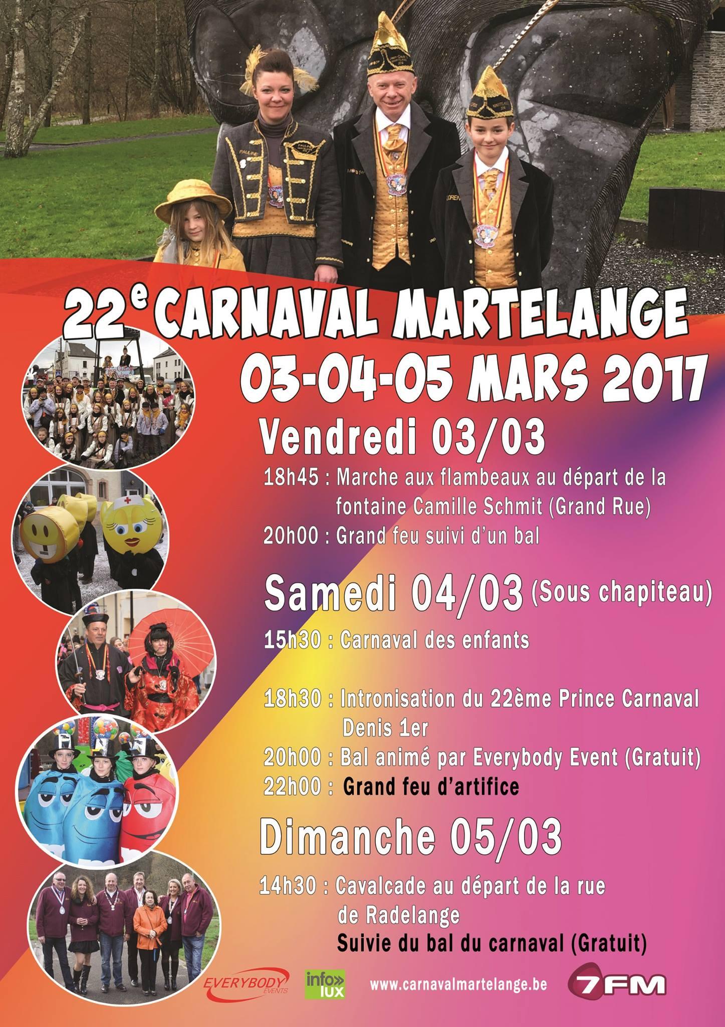 Programme du Carnaval de Martelange