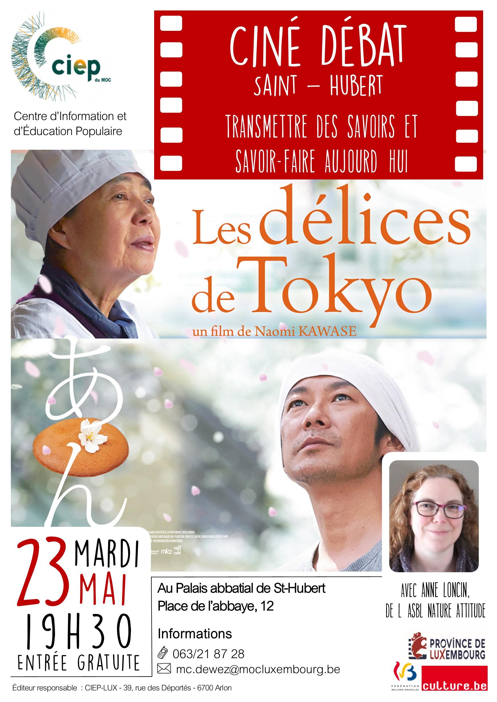 Ciné-débat à St-Hubert :Les délices de Tokyo