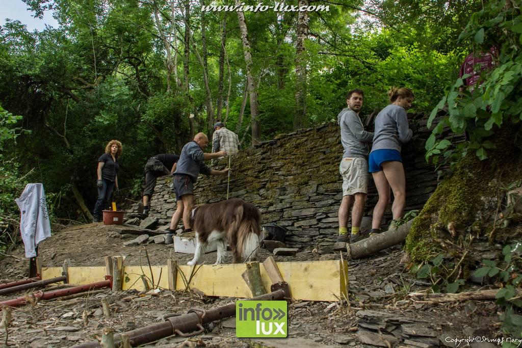 Stage rénovation pierre sèche à Neufchâteau
