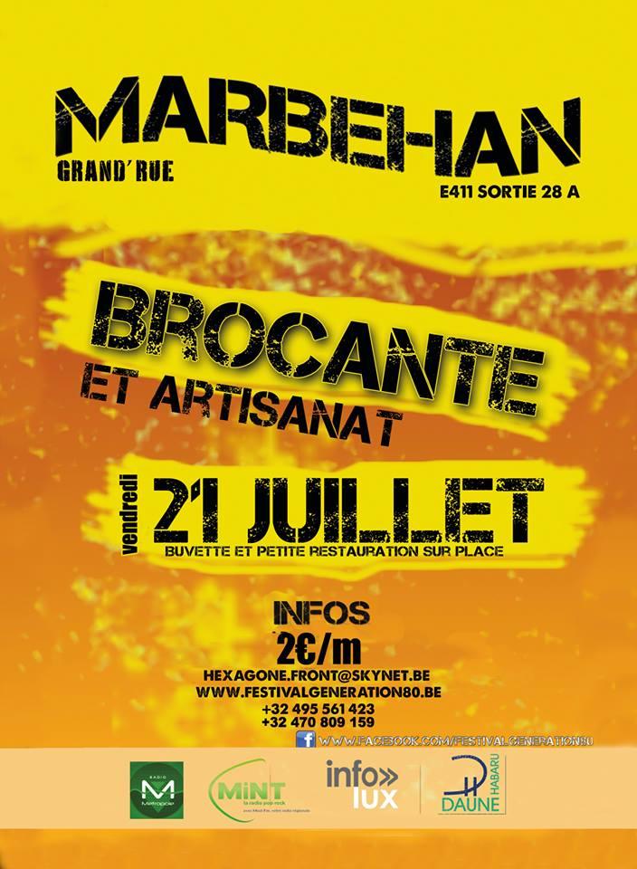 Brocante 21 Juillet Marbehan