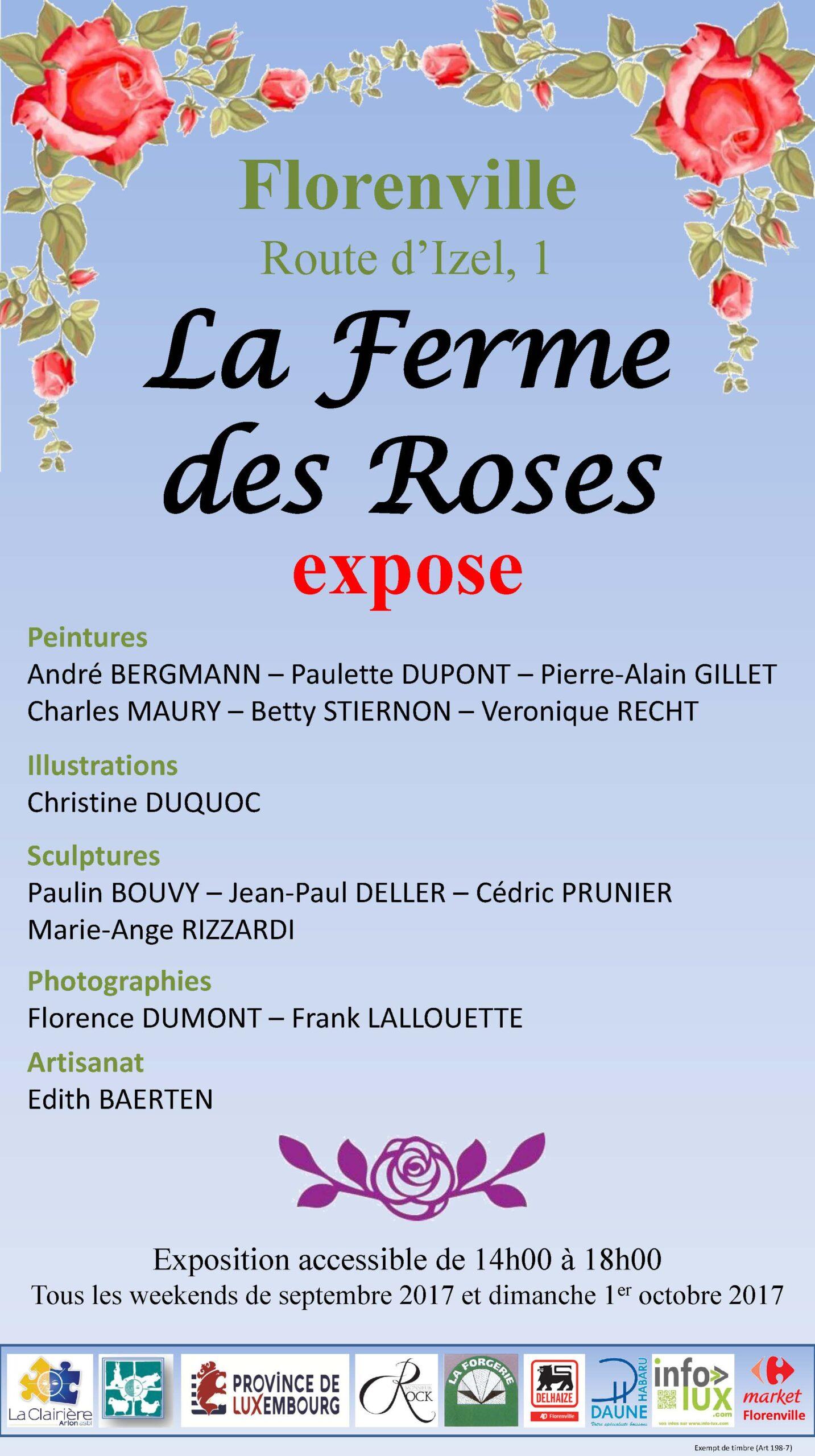 LA CLAIRIÈRE-ARLON : UNE EXPOSITION À FLORENVILLE