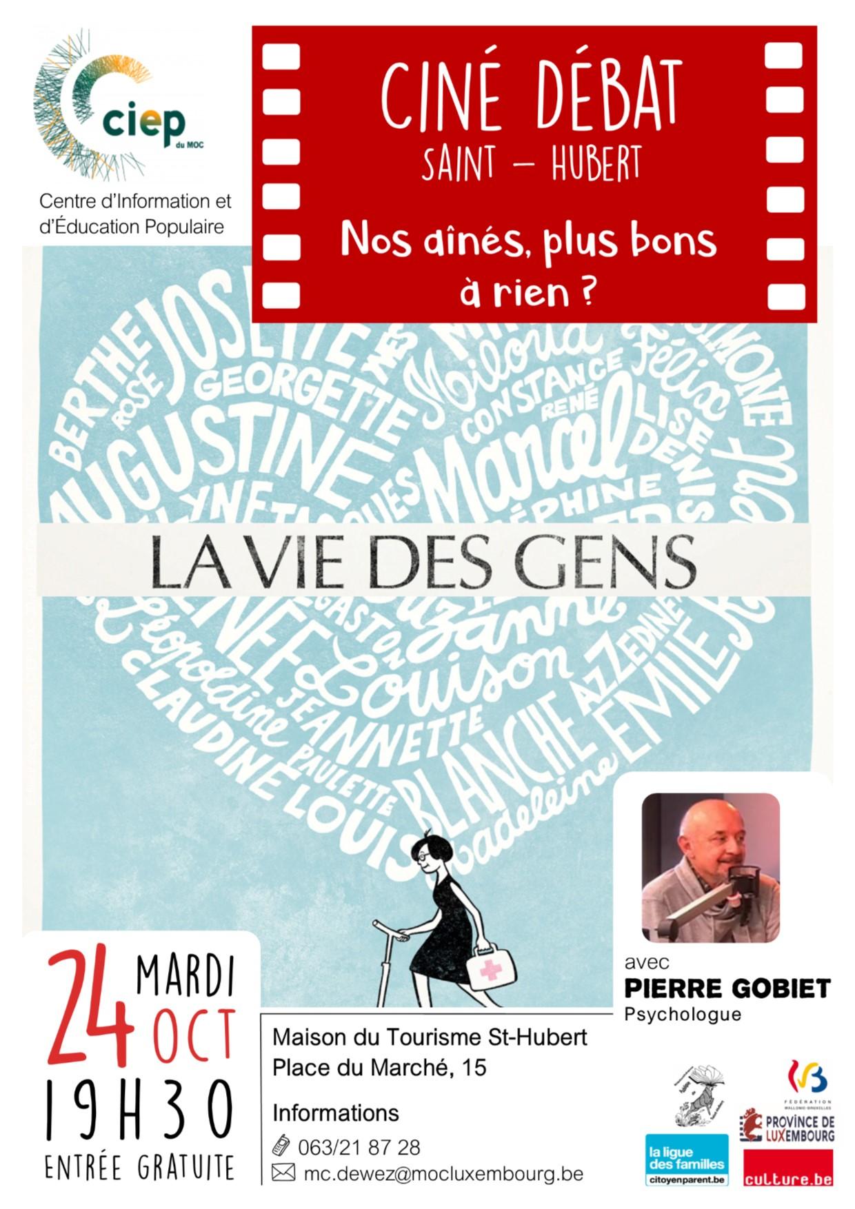 Maison du tourisme de St-Hubert : Ciné-débat