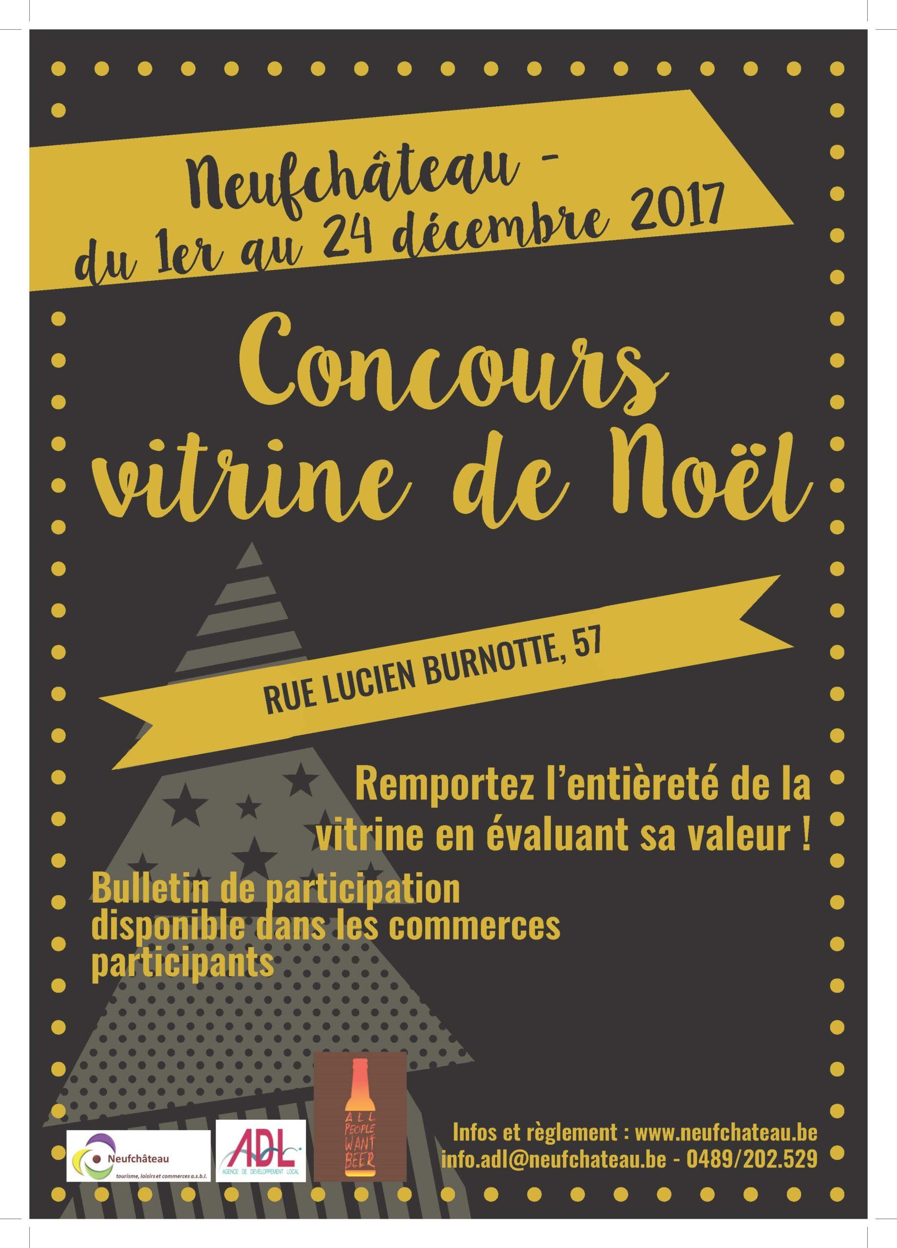 Concours « Vitrine de Noël » à Neufchateau