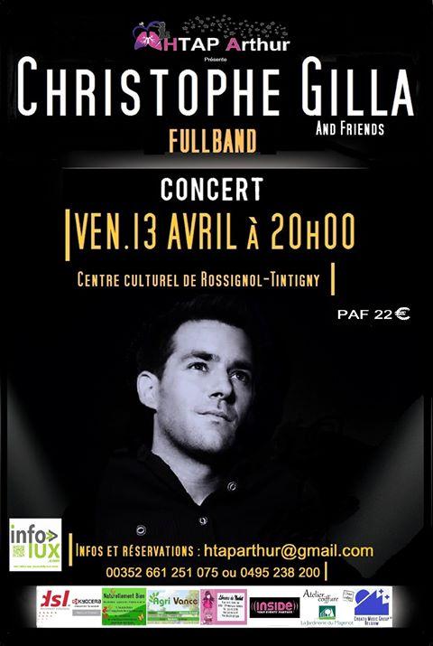 Christophe Gilla  en concert au Centre culturel de Rossignol- Tintigny