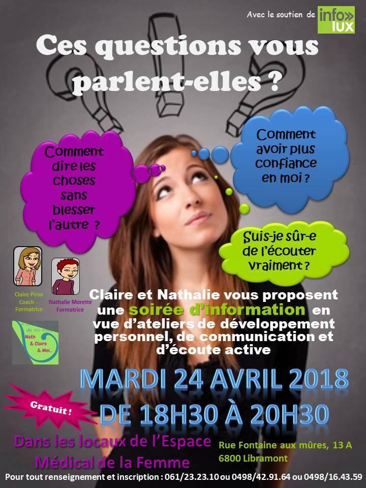 Conférence à Libramont : sur de développement personnel