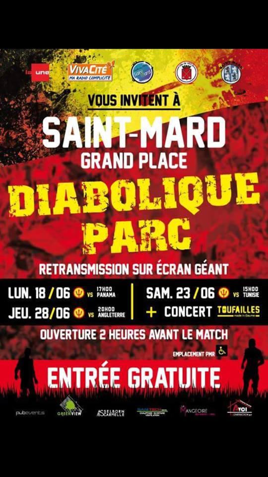 Ecran Geants Saint-Mard pour Supporter nos Diables