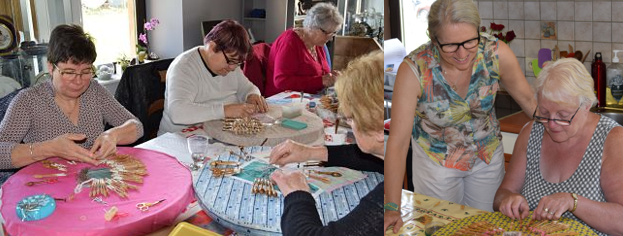 Ateliers de dentelle aux fuseaux  en province de Luxembourg : Danièle Jadin