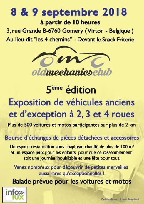 EXPOSITION DE VÉHICULES ANCIENS ET D'EXCEPTION à  GOMERY(VIRTON)
