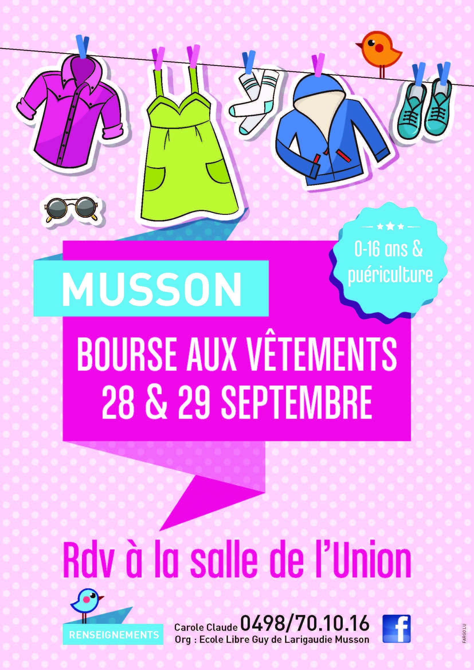 Bourse aux vêtements de l'Ecole  de Musson