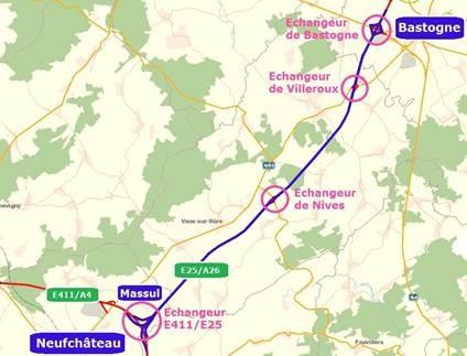 Bonne nouvelle pour les travaux : E25/A26– Bastogne-Massul
