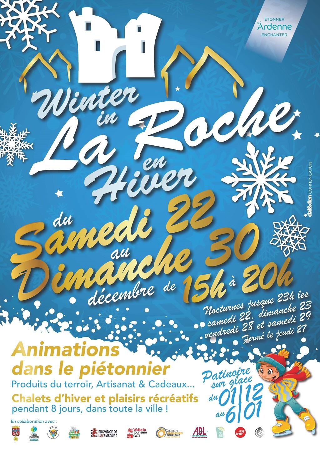 La Roche en hiver , Marché de Noël